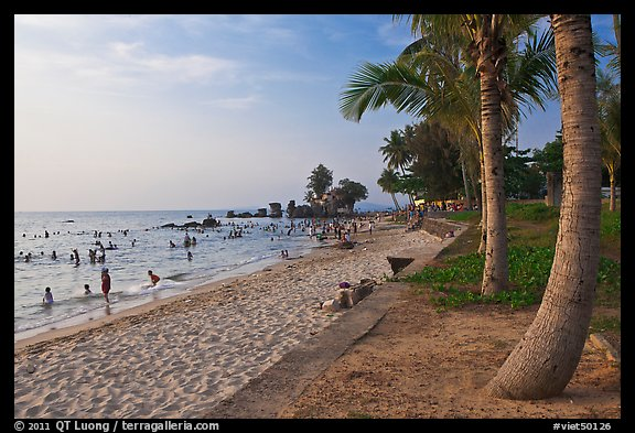 Long Beach and  Cau Castle, Duong Dong. Phu Quoc Island, Vietnam (color)