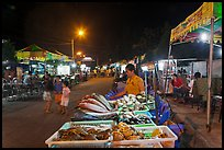 Seafood stall, night market. Phu Quoc Island, Vietnam ( color)