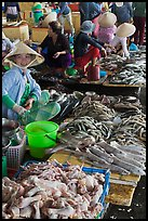 Woman selling sea food, Duong Dong. Phu Quoc Island, Vietnam ( color)