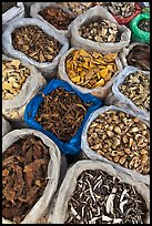 Close-up of dried foods in bags, Duong Dong. Phu Quoc Island, Vietnam ( color)