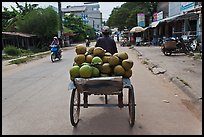 Cyclo carrying coconuts, Duong Dong. Phu Quoc Island, Vietnam ( color)