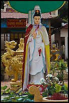 Statue in front of buddhist temple, Duong Dong. Phu Quoc Island, Vietnam ( color)