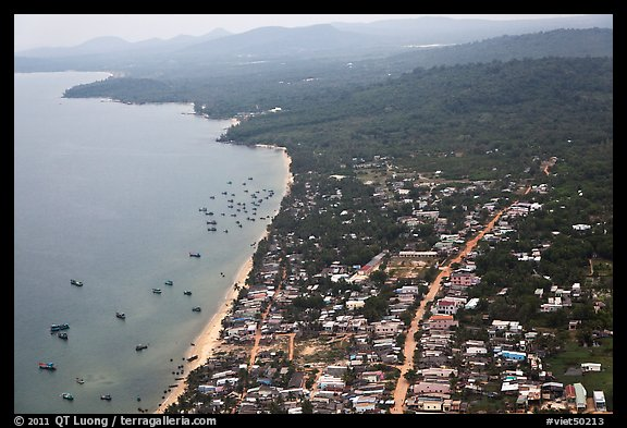 Aerial view, Duong Dong. Phu Quoc Island, Vietnam (color)