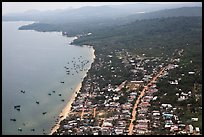 Aerial view, Duong Dong. Phu Quoc Island, Vietnam ( color)