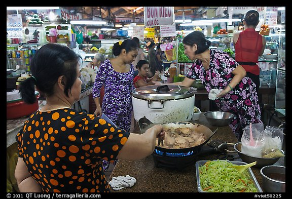 Food stalls, Ben Thanh Market. Ho Chi Minh City, Vietnam (color)