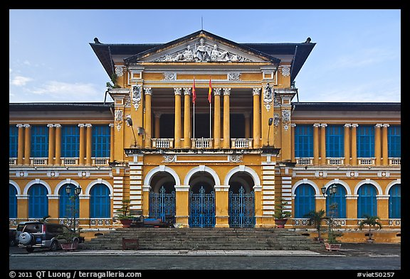 Courthouse in French colonial architecture. Ho Chi Minh City, Vietnam (color)