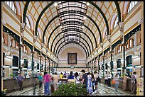 Interior of Central Post Office. Ho Chi Minh City, Vietnam ( color)