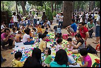 Babies and toddlers, Cong Vien Van Hoa Park. Ho Chi Minh City, Vietnam (color)