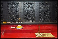 Carved wooden panels Hall of the Ten Hells, Jade Emperor Pagoda, district 3. Ho Chi Minh City, Vietnam