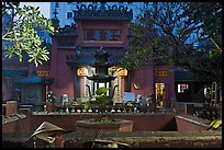 Jade Emperor Pagoda at dusk, district 3. Ho Chi Minh City, Vietnam (color)