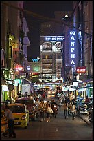 Shopping streetat night. Ho Chi Minh City, Vietnam ( color)