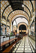 Inside of Central Post office designed by Gustave Eiffel. Ho Chi Minh City, Vietnam ( color)