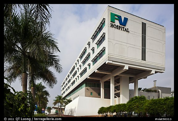 FV Hospital (one of the most modern in the country), Phu My Hung, district 7. Ho Chi Minh City, Vietnam (color)