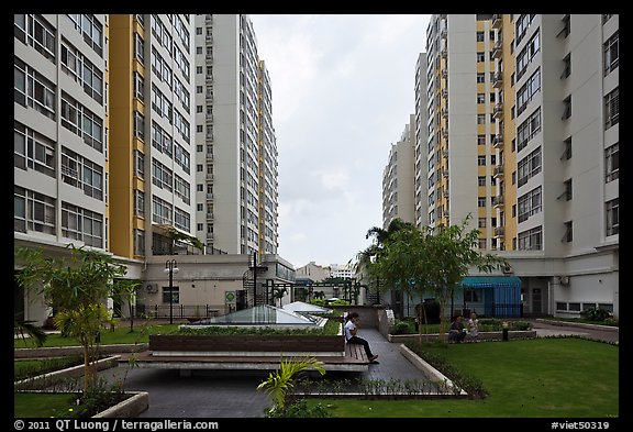 Residential towers, Phu My Hung, district 7. Ho Chi Minh City, Vietnam (color)