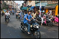 Early morning street scene. Ho Chi Minh City, Vietnam ( color)