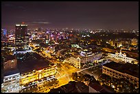 Saigon center at night from above. Ho Chi Minh City, Vietnam ( color)