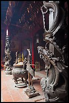 Pillars wrapped in dragons, Ha Chuong Hoi Quan Pagoda. Cholon, District 5, Ho Chi Minh City, Vietnam