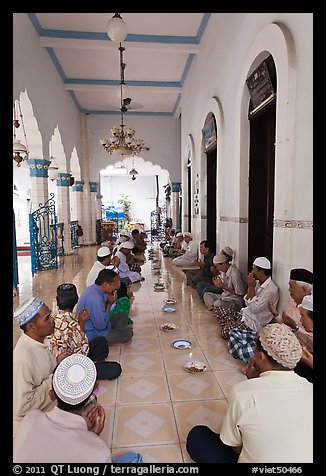 Men sitting in gallery, Cholon Mosque. Cholon, District 5, Ho Chi Minh City, Vietnam