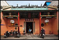 Facade, Tam Son Hoi Quan Pagoda. Cholon, District 5, Ho Chi Minh City, Vietnam