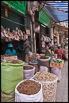 Shops selling traditional medicinal herbs. Cholon, Ho Chi Minh City, Vietnam (color)