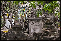 Graveyard, Giac Lam Pagoda, Tan Binh District. Ho Chi Minh City, Vietnam (color)