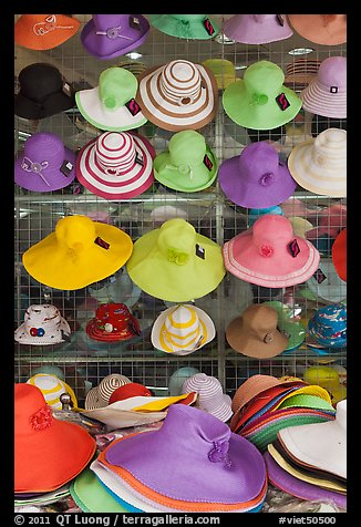 Colorful hats for sale. Ho Chi Minh City, Vietnam