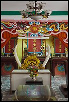 Secondary altar, Saigon Caodai temple, district 5. Ho Chi Minh City, Vietnam (color)