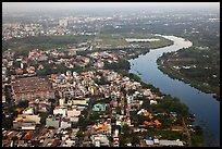 Aerial view of river and urban areas. Ho Chi Minh City, Vietnam ( color)