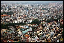 Aerial view of dense urban fabric. Ho Chi Minh City, Vietnam ( color)