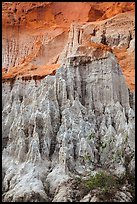 Sandrock formations vivid colors, Fairy Stream. Mui Ne, Vietnam ( color)