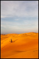 Sand dune landscape with figure. Mui Ne, Vietnam ( color)