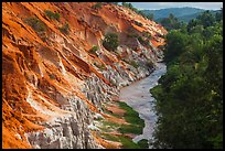 Fairy Stream, red rock, and forest from above. Mui Ne, Vietnam ( color)