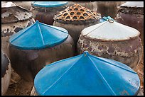 Amphorae for storage of traditional Vietnamese fish sauce Nuoc Mam. Mui Ne, Vietnam (color)