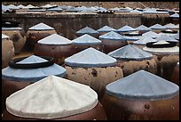 Rows of fish sauce vats. Mui Ne, Vietnam (color)