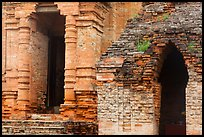 Detail of Cham Towers. Mui Ne, Vietnam (color)