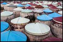 Amphorae of fish sauce. Mui Ne, Vietnam (color)