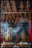 Incense sticks and coils, Thien Hau Pagoda. Cholon, District 5, Ho Chi Minh City, Vietnam ( color)