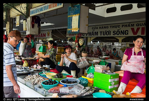 Vendors in Ben Thanh market. Ho Chi Minh City, Vietnam (color)