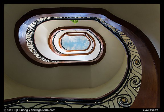 Stairway, Majestic Hotel. Ho Chi Minh City, Vietnam (color)