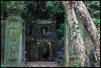 Gate at the entrance of Huyen Khong cave. Da Nang, Vietnam ( color)