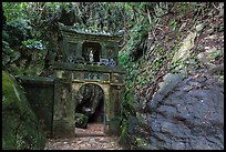 Gate in the jungle, Thuy Son hill, Marble Mountains. Da Nang, Vietnam (color)