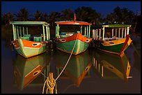 Boats at night. Hoi An, Vietnam (color)
