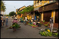 Fruit and vegetable vendors in old town. Hoi An, Vietnam ( color)