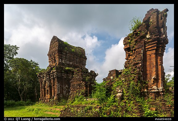 Ruined Champa monuments. My Son, Vietnam (color)