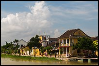 Waterfront houses. Hoi An, Vietnam (color)