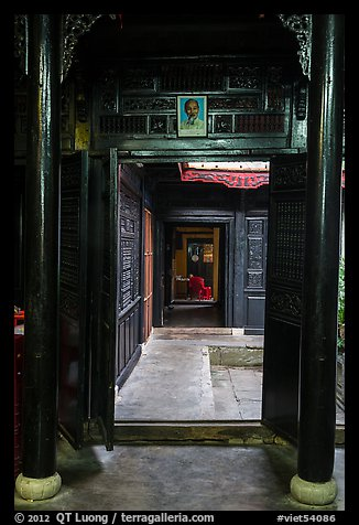 Corridors and atrium, Quan Thang house. Hoi An, Vietnam (color)