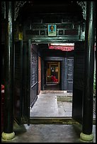Corridors and atrium, Quan Thang house. Hoi An, Vietnam ( color)