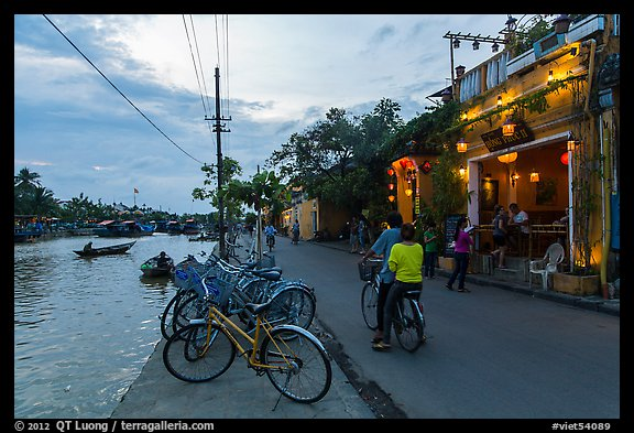 Waterfront at dusk. Hoi An, Vietnam (color)