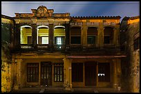 Old townhouses at night. Hoi An, Vietnam ( color)