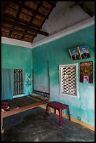 Village home with ancester pictures. Hoi An, Vietnam (color)